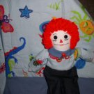 Colorful Flannel Quilt with Matching Raggedy Andy Doll Handmade OOAK One of a Kind Dolls and Quilts