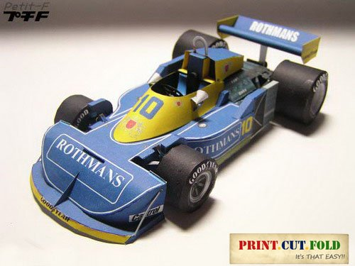 1977 March Ford 771 F1 Race Car - 3d Diy Paper Craft Model CD