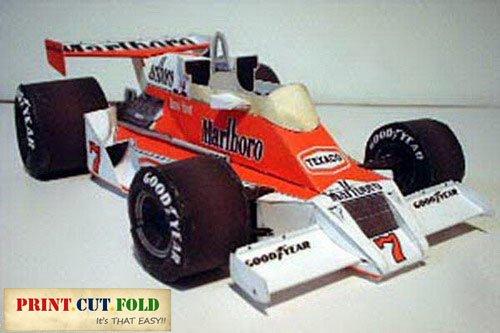 1978 Mclaren FORD M26-2 F1 Race Car - 3D DIY Paper Craft Model CD