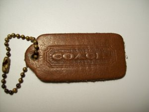 Vintage Coach British Tan Double Sided Brass Bead Chain