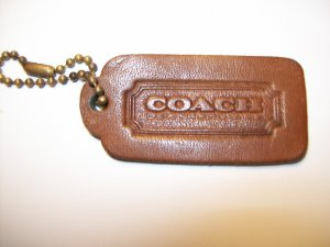 Vintage Coach Leatherware British Tan One Sided Brass Bead Chain