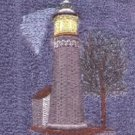 Fort Niagara Lighthouse Machine Embroidered On White Hand Towel