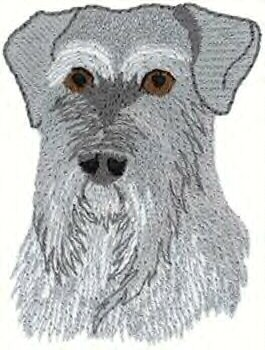 Schnauzer Head Machine Embroidered On Hand Towel