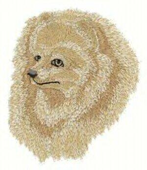 Pomeranian Machine Embroidered Dog On Hand Towel