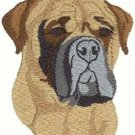Bullmastiff Dog Head Machine Embroidered On Hand Towel