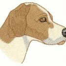 Pointer Dog Head Machine Embroidered On Hand Towel
