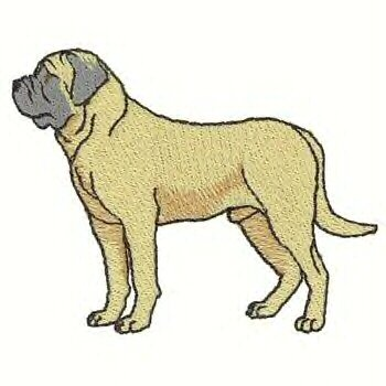 Bullmastiff Dog Machine Embroidered On Hand Towel
