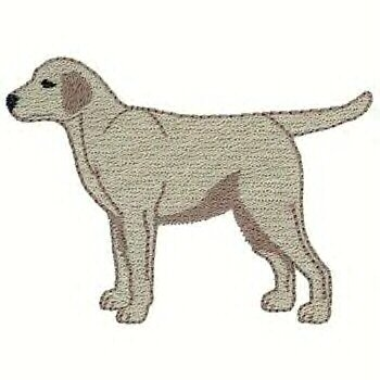 Yellow Labrador Machine Embroidered on Hand Towel