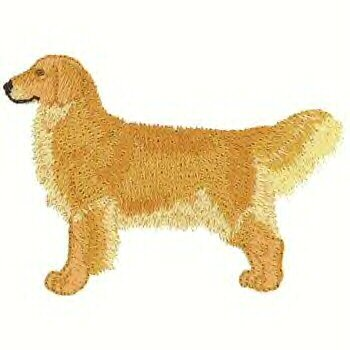 Golden Retriever Machine Embroidered On a Hand Towel
