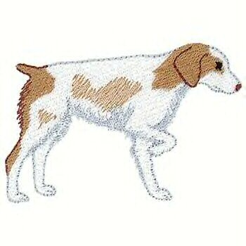 Brittany Spaniel Dog Machine Embroidered on Hand Towel