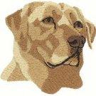 Labrador Retriever Head Machine Embroidered on Hand Towel