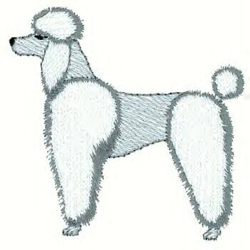Poodle Dog Machine Embroidered on Hand Towel