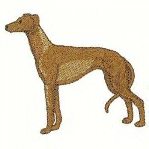 Greyhound Machine Embroidered on Hand Towel