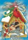 Birdhouses Snow Christmas Winter Garden Mini Flag