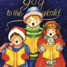 Joy to the World Carolers Winter Christmas Large Flag