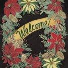 Welcome Winter Holiday Wreath Garden Mini Flag