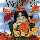 Welcome Autumn Cat Garden Mini Flag