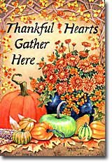 Thankful Hearts Garden Mini Flag