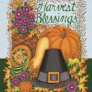 Harvest Blessing Pilgrim Thanksgiving Garden Mini Flag