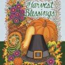 Harvest Blessing Pilgrim Thanksgiving Garden Mini Flag