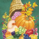 Cornucopia Thanksgiving Harvest Garden Mini Flag