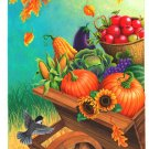 Harvest Fall Thanksgiving Garden Mini Flag