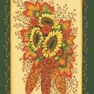 Indian Corn Sunflower Fall Garden Mini Flag