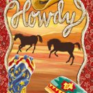 Howdy Ranch Texas Garden Mini Flag