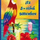 It's 5 o'clock Somewhere Jimmy Buffet Large Flag