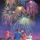 Fireworks July 4 Large Flag