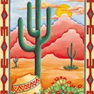Cactus Texas Arizona New Mexico Large Flag