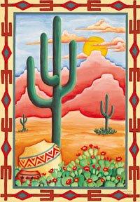 Cactus Texas Arizona New Mexico Large Flag