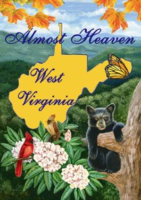 Almost Heaven West Virginia Large Flag