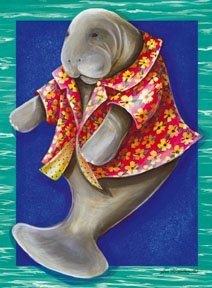 Manatee Summer Large Summer Flag