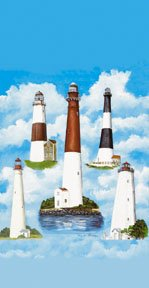 Lighthouses Garden Mini Summer Flag