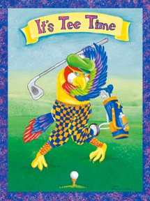 Its Tee Time Golf Garden Mini Summer Flag