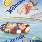 Welcome Pool Party Summer Large Flag