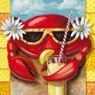 Crab Summer Garden Mini Flag