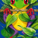 Frog Summer Garden Mini Flag