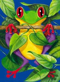 Frog Summer Garden Mini Flag