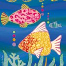 Tropical Fish Garden Mini Summer Flag
