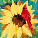 Sunflower Cardinal Large Summer Flag
