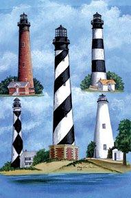 Lighthouse Ocean Garden Mini Summer Flag