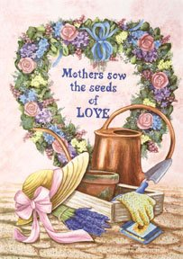 Mothers Sew the seeds of Love Garden Mini Flag