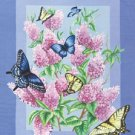 Lilac Butterfly Garden Mini Summer Flag