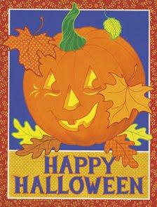 Happy Halloween JOL Pumpkin Garden Mini Flag