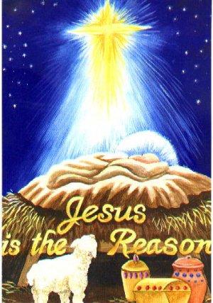 Jesus is the Reason Garden Mini Christmas Flag