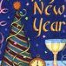 Happy New Year Party Winter Garden Mini Flag