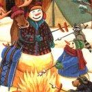 Warm Winter Wishes Snowman Christmas Winter Garden Mini Flag