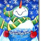All Flakes Welcome Snowman Christmas Winter Garden Mini Flag
